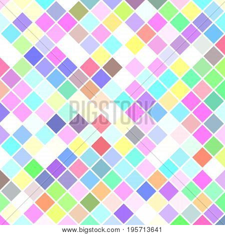 Colored abstract square pattern background - geometric vector illustration from diagonal squares in light tones