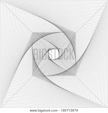 Abstract monochromatic line pattern background design - vector graphic