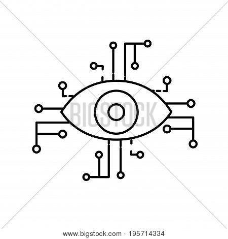 line visual technology connect in the cyberspace structure vector illustration