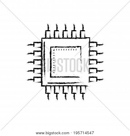 figure battery technology energy with connection and generator vector illustration