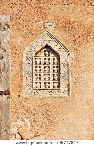 The old grating window in the Ottoman style