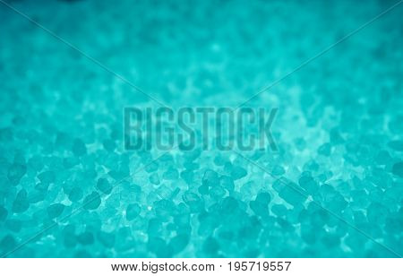 Extreme Closeup Of Blue Sea Salt