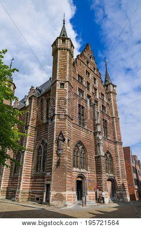 The Vleeshuis (Butcher Hall) in Antwerp Belgium - architecture background