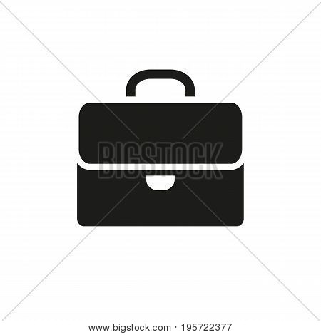 Simple icon of schoolbag. Portfolio, luggage, businessman. School concept. Can be used for application icons, buttons and pictograms