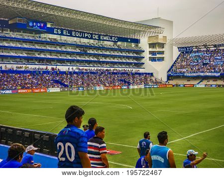 Crowded Grandstand At George Capwell Soccer Stadium, Guayaquil, Ecuador