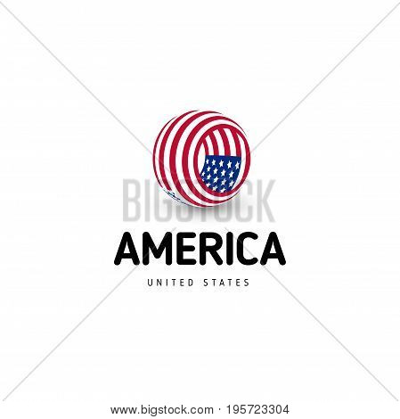 United states of America vector unusual abstract circle sign. USA isolated logo on white background emblem. Independence day of US symbol