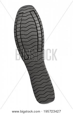 Bottom of sport shoes isolated on white background
