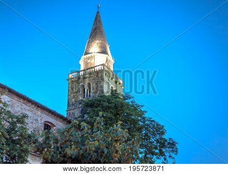 Belltower of the parish church San Vito Modesto e Crescenzia Groznjan