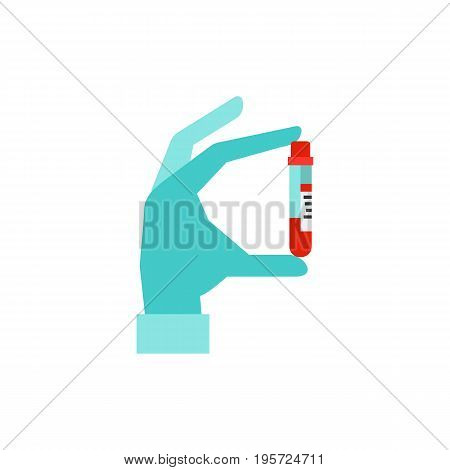 Icon of aids day poster. Blood test, immunity, medicine. Hiv concept. Can be used for topics like diabetes, infection, healthcare