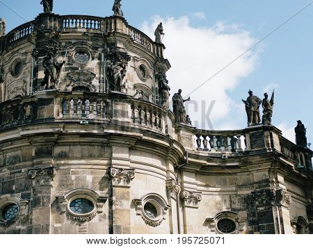 Dresden Cathedral of the Holy Trinity or Hofkirche, Dresden Castle in Dresden, Saxony, Germany
