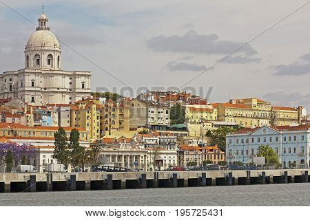 National Pantheon in Lisbon Portugal seen from the Tagus River Portugal