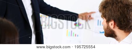 Group Of People Deliberate On White Board Problem
