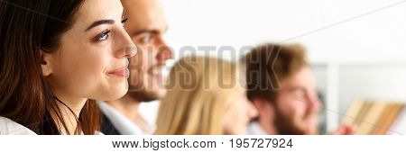 Group Of People Listen Carefully During Seminar