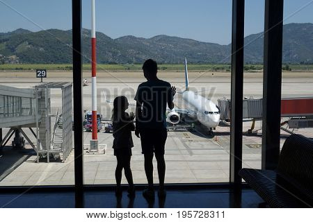 Passengers awaiting departure at the airport