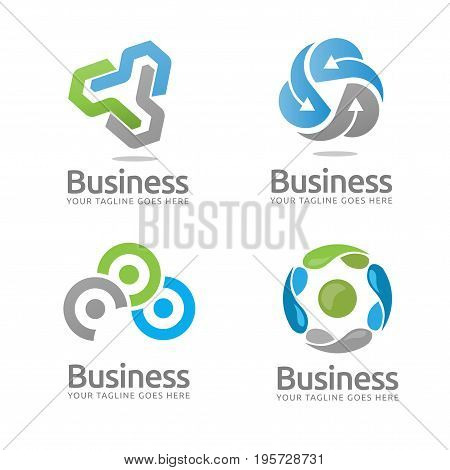 business and Technology logo, Simple and elegant technology logo concept suitable for all kind software, technology, media business.