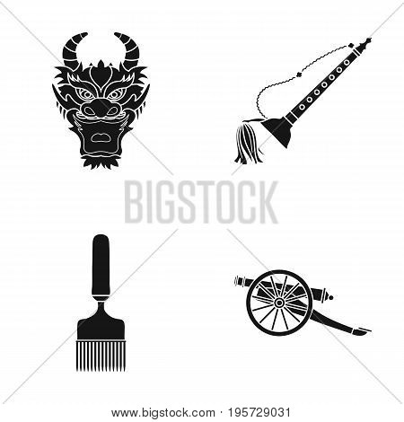 history, tourism, entertainment and other  icon in black style.weapon, defense, army, icons in set collection