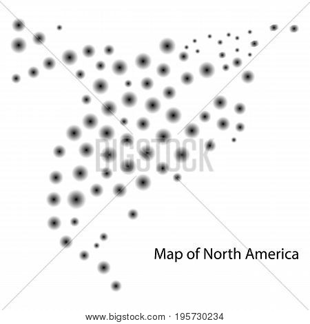 Map Of North America Canada Costa Rica Cuba Mexico Usa