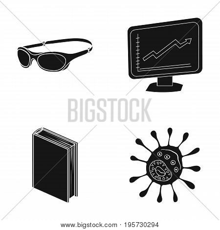 infection, hygiene, education and other  icon in black style.school, microbe, dirt, icons in set collection