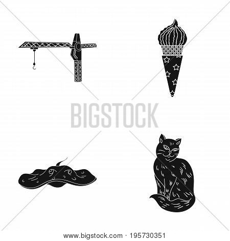 production, recreation, cooking and other  icon in black style.animal, home, care, icons in set collection