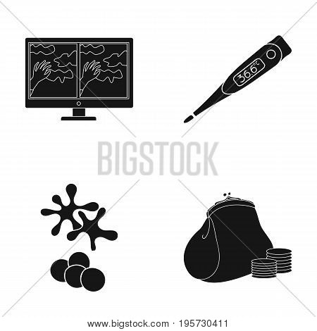 bank, credit, medicine and other  icon in black style.money, payment, store, icons in set collection