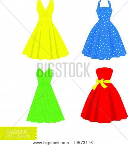 Vector Dress Icons Set