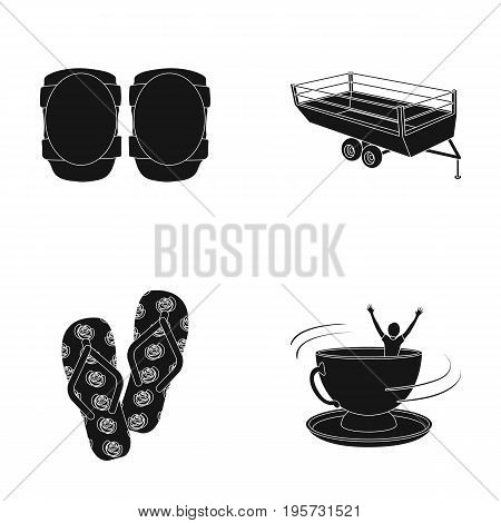 addiction, medicine, equipment and other  icon in black style.cup, saucers, man icons in set collection.
