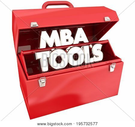 MBA Tools Toolbox Masters Business Administration Degree Skills 3d Animation