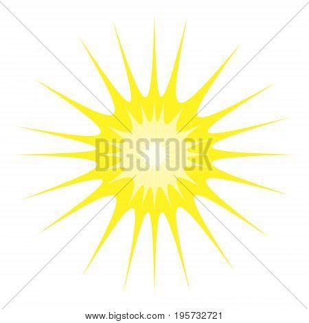 Image of the sun. Logo. vector illustration