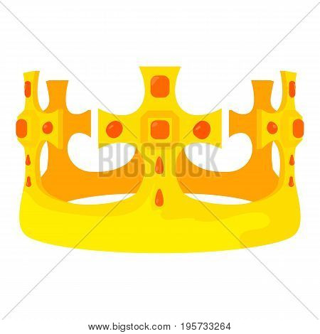 Crown Prince icon. Cartoon illustration of crown prince vector icon for web