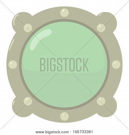 Porthole icon. Cartoon illustration of porthole vector icon for web