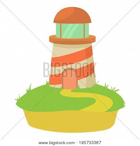 Lighthouse icon. Cartoon illustration of lighthouse vector icon for web