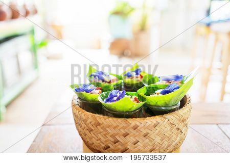 Traditional Thai Snack Miang Kham
