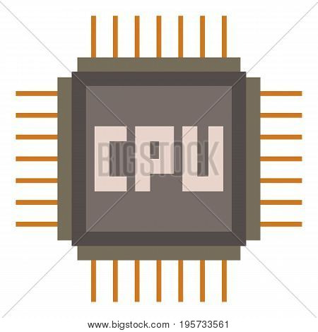 CPU icon. Cartoon illustration of CPU vector icon for web
