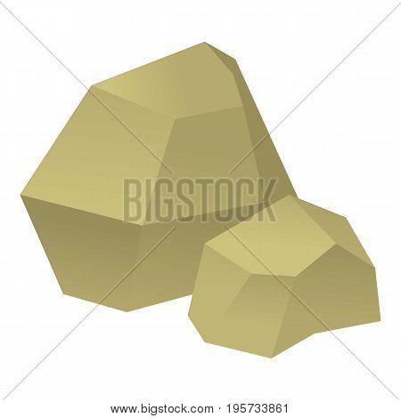 Origami stone icon. Cartoon illustration of origami stone vector icon for web