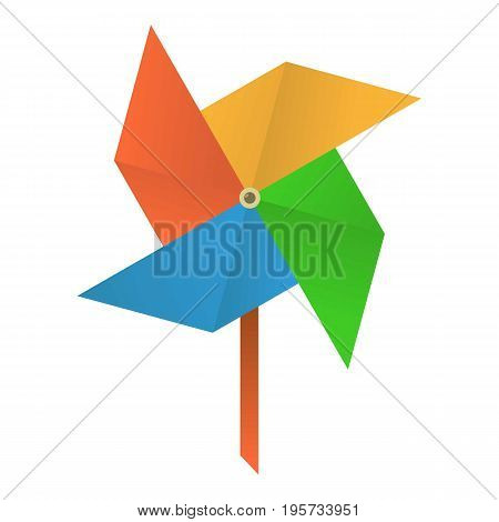 Origami mill icon. Cartoon illustration of origami mill vector icon for web