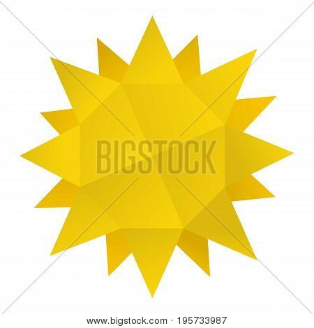 Origami sun icon. Cartoon illustration of origami sun vector icon for web