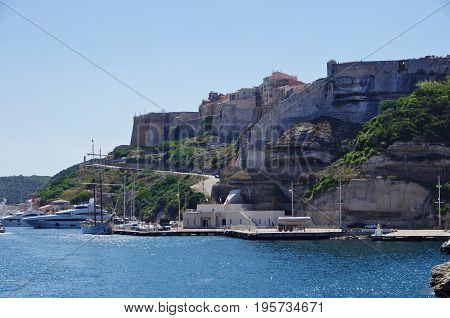 Bonifacio Gulf Offers Natural Protection For The Boats.