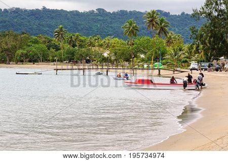 Water taxi in the Mele Bay at Devil's Point Road - Port Vila, Efate Island, Vanuatu, 21 September 2012