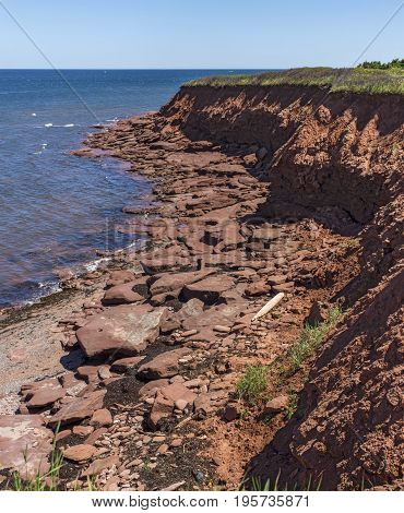 Red Rocks On Cavendish Beach (portrait),  Prince Edward Island