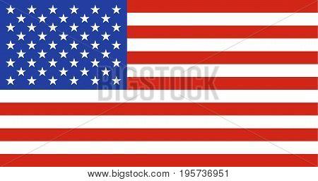 American flag vector illustration graphic. USA flag