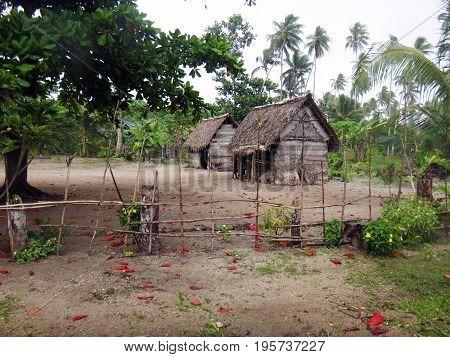 Village Of Kiabola, Kiriwina Island, Papua New Guinea.