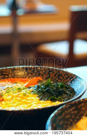 noodle in japanese style on table