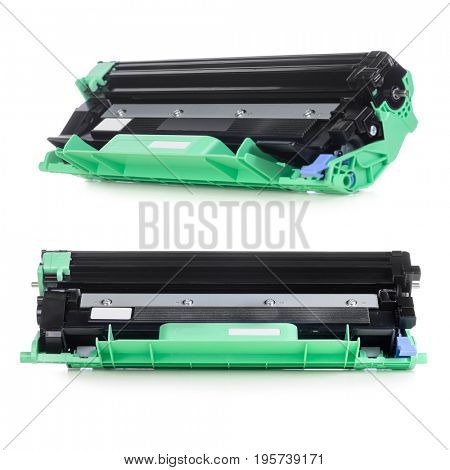 Cartridge for laser home printer isolated on white background