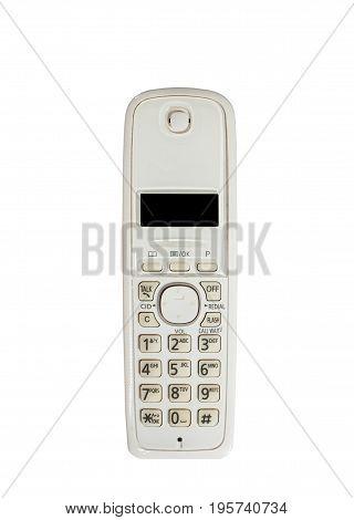 old white phone isolated on white background