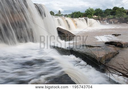 Poi waterfall in Phitsanulok province Thailand in rainy season flood