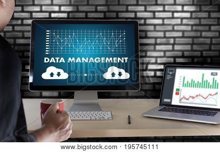 Data Management File Database Cloud Network Technology Concept