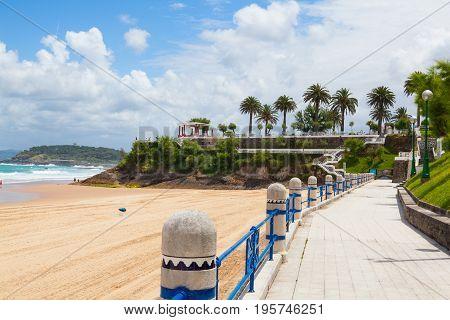 El Sardinero beach promenade Santander Cantabria Spain