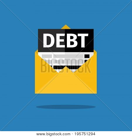 Tax, debt form icon. Flat design vector illustration