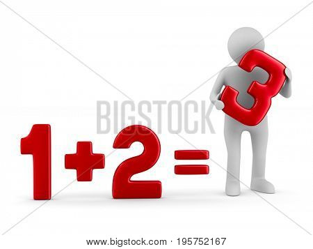 human holding right answer. Isolated 3D illustration