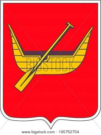 Coat of arms of Lodz is city in Poland. Vector illustration from Giovanni Santi-Mazzini Heraldic 2003